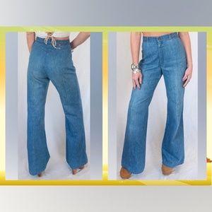 Vintage 70's Levi's Orange Tab Bell Bottom Jeans